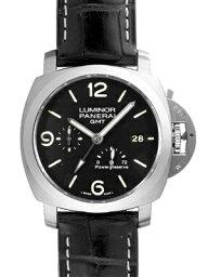 ルミノール 腕時計(メンズ) 【新品】パネライ PAM00321 ルミノール1950 3デイズGMT パワーリザーブ SS/レザー 44mm 自動巻き シースルーバック