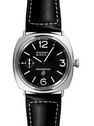 ラジオミール 腕時計(メンズ) 【新品】パネライ PAM00754 ラジオミール ブラックシール 3デイズ アッチャイオ 45ミリ SS/ブラックレザー 手巻き ブラック