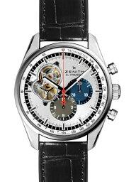ゼニス クロノマスター 腕時計(メンズ) 【新品】ZENITH 【ゼニス】 03.2040.4061/69.C496 エルプリメロ クロノマスター1969 シルバーオープンダイアル 2カラーインダイアル SS/レザー 自動巻き シースルーバック