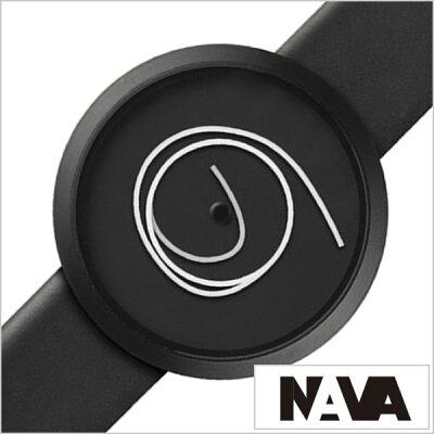 ナバ デザイン 時計 NAVA DESIGN 腕時計 ORA UNICA 36mm メンズ レディース ブラック NVA020010[正規品 北欧 ミニマル シンプル 個性的 インテリア 人気 ブランド プレゼント ギフト 革 レザー ペアウォッチ ユニセックス デザイナーウォッチ ファッション コーデ][送料無料]