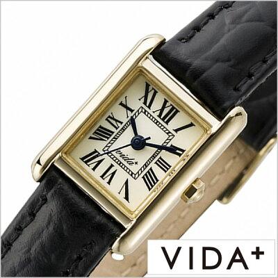 ヴィーダプラス腕時計 VIDA+時計 VIDA+ 腕時計 ヴィーダプラス 時計 ミニレクタンギュラー Mini Rectangular レディース アイボリー J83904-LE-BK 正規品 新作 防水 人気 革 レザー ベルト レクタンギュラー型 スクエア型 ゴールド ブラック 夏