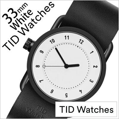 ティッドウォッチ No.1 33mm 腕時計 TID Watches 時計 レディース ホワイト TID01-WH33-BK 正規品 人気 ブランド シンプル 個性的 デザイナーズ アート ファッション お洒落 ミニマル おしゃれ 北欧 レザー 革 ペアウォッチ ギフト プレゼント 夏