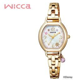腕時計(ディズニーなど) シチズン ウィッカ Disneyコレクション 『塔の上のラプンツェル』 限定モデル 電池交換不要 ソーラー 時計 CITIZEN wicca 腕時計 レディース ゴールド KP2-523-91 人気 ブランド おすすめ おしゃれ シンプル かわいい 小ぶり 小さめ ディズニー 好き 女子 プレゼント ギフト