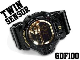 カシオ G-SHOCK 腕時計(メンズ) 【ポイント2倍!!+全商品送料無料!!】GDF-100GB-1DR G-SHOCK Gショック ジーショック gshock カシオ CASIO 腕時計