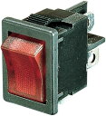 Fred SWITCH  Drag Specialties ドラッグスペシャリティーズ ホイール本体 ロッカースイッチ ON/OFF レッド 【ROCKER SWITCH ON/OFF RED [DS-272147]】