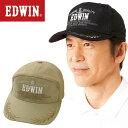 エドウイン EDWIN エドウィン つば刺しゅう入りワイドキャップ 2色組 メンズ 帽子 キャップ 通年 952959