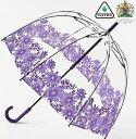 フルトン フルトン 傘 バードケージ ガーベラ 長傘 花柄 レディース かさ おしゃれ 紫 パープル プレゼント ギフト 新生活 新居 引越し祝い 新築