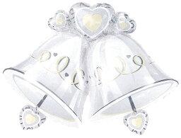 メッセージバルーン 送料無料 ヘリウムガス入り ウェディングベル-ウエディングメッセージバルーンブーケセット ベル型バルーン&ハートメッセージバルーンセット バルーン 誕生日 数字 結婚式 出産祝い