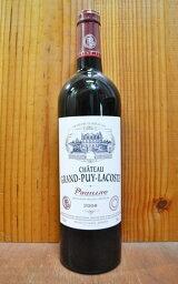 格付けフランスワイン(AOC) シャトー グラン ピュイ ラコスト 2008年 AOCポイヤックChateau Grand Puy Lacoste 2008 Grand Cru Classe du Medoc en 1855 AOC Pauillac