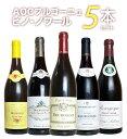 ワイン飲み比べセット 【第1弾】【送料無料】ピノ愛好家大注目!AOCブルゴーニュ ピノ ノワール5本飲み比べセット 有名メゾンも含むピノ ノワール(ブルゴーニュ ルージュ)飲み比べBourgogne Pinot Noir 5 SET