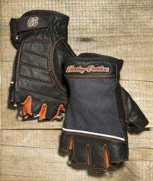 エルメス 手袋(メンズ) Harley Davidson ハーレーダビッドソン レディース グローブWomen's Cora Leather & Mesh Fingerless Glovesハーレー純正 正規品 アメリカ買付 USA直輸入 通販