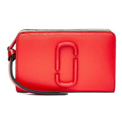 マークジェイコブス 二つ折り財布 MARC JACOBS Snapshot Compact Leather Wallet (Poppy Red Multi) スナップショット コンパクト レザー ウォレット 財布 (レッド) 新作 正規品 レディース 財布 折り畳み