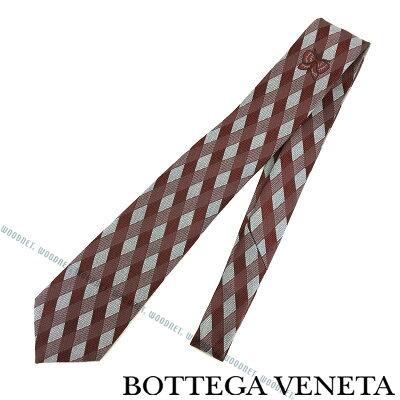 BOTTEGA VENETA ネクタイ ボッテガベネタ メンズ シルク レッド×シルバー 520556-4V0026569 ブランド