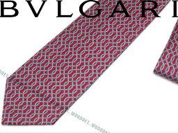 ブルガリ ネクタイ BVLGARI ブルガリ ネクタイ 242177 レッド 「SANKE CHAIN」 シルクブランド ビジネス/メンズ/男性用