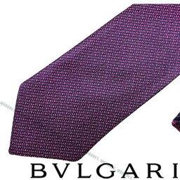 ブルガリ ネクタイ BVLGARI ネクタイ ブルガリ メンズ バイオレット 「Double Logo Lane」 シルク 243444-PURPLE ブランド