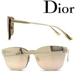 クリスチャンディオール Christian Dior サングラス UVカット クリスチャンディオール レディース ゴールド 縁無し DIORCOLORQUAKE2-DDB-SQ ブランド