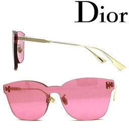 クリスチャンディオール Christian Dior サングラス UVカット クリスチャンディオール レディース ピンク 縁無し DIORCOLORQUAKE2-MU1-U1 ブランド