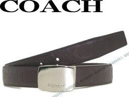 コーチ COACH コーチ ベルト シグネチャーロゴ柄 リバーシブル レザーダークブラウン 64772-DBDB ブランド/メンズ/男性用