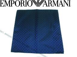 アルマーニ(ポケットチーフ) 【送料無料】EMPORIO ARMANI エンポリオアルマーニ イーグルロゴ柄 シルク ポケットチーフ ブルー340033-7P612-00034 ブランド/メンズ/男性用