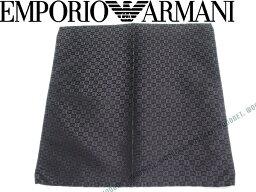 アルマーニ(ポケットチーフ) 【送料無料】EMPORIO ARMANI エンポリオアルマーニ イーグルロゴ柄 シルク ポケットチーフ チャコールグレー 340033-7P612-04543 ブランド/メンズ/男性用