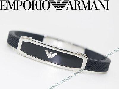 EMPORIO ARMANI ブレスレット エンポリオアルマーニ ブラック×シルバー アクセサリー EGS1543040 ブランド/メンズ&レディース/男性用&女性用