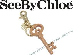 クロエ SEE BY Chloe シーバイクロエ キーホルダー アンティークキーモチーフ ゴールド×ミスティピンク 9K7227-P100BHW キーケース キーリング ブランド/レディース/女性用