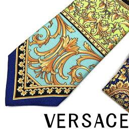 ヴェルサーチ VERSACE ネクタイ ベルサーチ メンズ ル ポップ クラシークプリント シルク ブルー ICR7001-A233340-A7047 ブランド