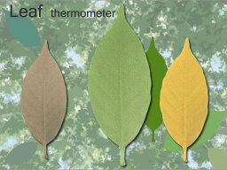 Leaf Thermometer リーフ Leaf thermometer / アッシュコンセプト(+d) 【あす楽対応】