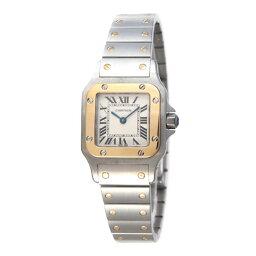 カルティエ サントスガルベ 腕時計(レディース) カルティエ 腕時計 レディース CARTIER 【サントスガルベ】 イエローゴールド SM ホワイト文字盤 W20012C4 【お取り寄せ】