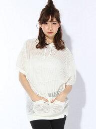 エックスガール 【SALE/45%OFF】X-girl MESH HOODIE TOP/パーカー エックスガール ニット【RBA_S】【RBA_E】【送料無料】