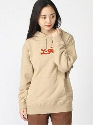 エックスガール [Rakuten Fashion]PATCH LOGO SWT HDY X-girl エックスガール カットソー パーカー ベージュ ブラック ブルー オレンジ【送料無料】