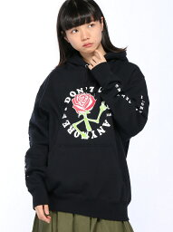 エックスガール [Rakuten BRAND AVENUE]【SALE/20%OFF】X-girlxJUNGLES DONT CARE SWEAT HOODIE X-girl エックスガール カットソー【RBA_S】【RBA_E】【送料無料】