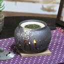 アロマポット 茶香炉 陶器茶香炉 陶器アロマ 茶 しがらき 焼き物 信楽焼 火 キャンドル 茶こうろ 香炉 ギフト [ty-0002]