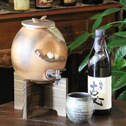 焼酎サーバ 信楽焼 仲良しふくろう焼酎サーバー 陶器サーバー 信楽焼サーバー ふくろう焼酎サーバー ギフトにも最適 焼酎ビン 瓶 ss-0103
