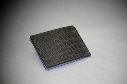 クロコダイル クロコダイル 財布 マネークリップ 山本製鞄 メンズ 日本製 本革 グレー