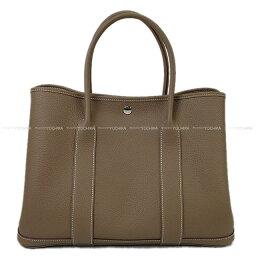 トートバッグ 【ご褒美に★】HERMES エルメス トートバッグ ガーデンパーティ 36 PM エトープ (エトゥープ) ネゴンダ(オールレザー型押し) シルバー金具 新品 (HERMES Handbag Garden Party Bag 36 PM Etoupe Negonda SHW [Brand new][Authentic])【あす楽対応】#よちか