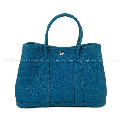 【冬のボーナスで!】HERMES エルメス ハンドバッグ ガーデンパーティ 30 TPM ブルーイズミール ネゴンダ 新品 (HERMES handbags Garden Party 30 TPM Blue Izmir Negonda[Brand New][Authentic])【あす楽対応】#よちか