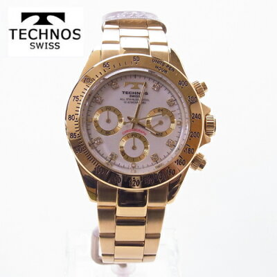8ba9c7e2b8 (あす楽) テクノス(TECHNOS)腕時計 クロノグラフ 10気圧防水 TGM639GW 【