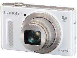 PowerShot 【ポイント5倍】CANON デジタルカメラ PowerShot SX610 HS [ホワイト] [画素数:2110万画素(総画素)/2020万画素(有効画素) 光学ズーム:18倍 撮影枚数:270枚 備考:顔検出] 【楽天】【激安】 【格安】 【特価】 【人気】 【売れ筋】【価格】