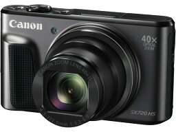 PowerShot 【ポイント5倍】CANON デジタルカメラ PowerShot SX720 HS [ブラック] [画素数:2110万画素(総画素)/2030万画素(有効画素) 光学ズーム:40倍 撮影枚数:250枚 備考:顔検出] 【楽天】【激安】 【格安】 【特価】 【人気】 【売れ筋】【価格】