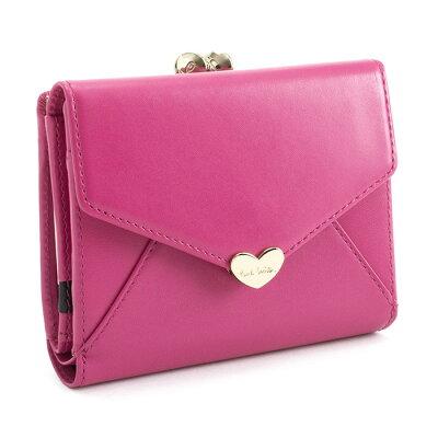 ポールスミス 財布 二つ折り財布 がま口財布 ピンク Paul Smith pwu926-24 レディース 婦人