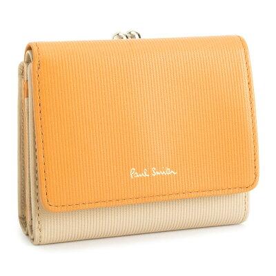 ポールスミス 財布 三つ折り財布 がま口財布 ベージュ Paul Smith pwd116-90 レディース 婦人 【送料無料】
