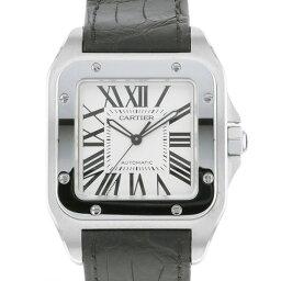 カルティエ サントス 腕時計(メンズ) カルティエ CARTIER サントス 100 LM W20073X8 ホワイト文字盤 メンズ 腕時計 【新品】