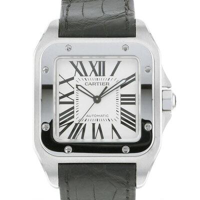 カルティエ CARTIER サントス 100 LM W20073X8 ホワイト文字盤 メンズ 腕時計 【新品】