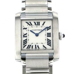 カルティエ タンク フランセーズ 腕時計(メンズ) カルティエ CARTIER タンク フランセーズMM WSTA0005 ホワイト文字盤 メンズ 腕時計 【新品】
