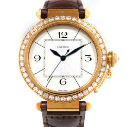 カルティエ パシャ 腕時計(メンズ) カルティエ CARTIER パシャ 42mm ベゼルダイヤ WJ120351 シルバー文字盤 メンズ 腕時計 【新品】