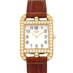 ケープコッド エルメス HERMES ケープコッド ベゼルダイヤ CC1.272.218.ZET ホワイト文字盤 新品 腕時計 レディース