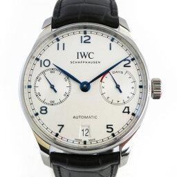 IWC ポルトギーゼ 腕時計(メンズ) IWC IWC ポルトギーゼ オートマティック 7デイズ IW500705 ホワイト文字盤 メンズ 腕時計 【新品】