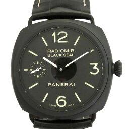 ラジオミール 腕時計(メンズ) パネライ PANERAI ラジオミール ブラックシール チェラミカ PAM00292 ブラック文字盤 メンズ 腕時計 【新品】