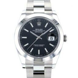 デイトジャスト 腕時計(メンズ) ロレックス ROLEX デイトジャスト 41 126300 ブラック文字盤 メンズ 腕時計 【新品】